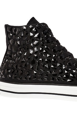 86bc2cd8ccbe Lyst - Converse The Chuck Taylor All Star Rhinestone Hi Sneaker in Black