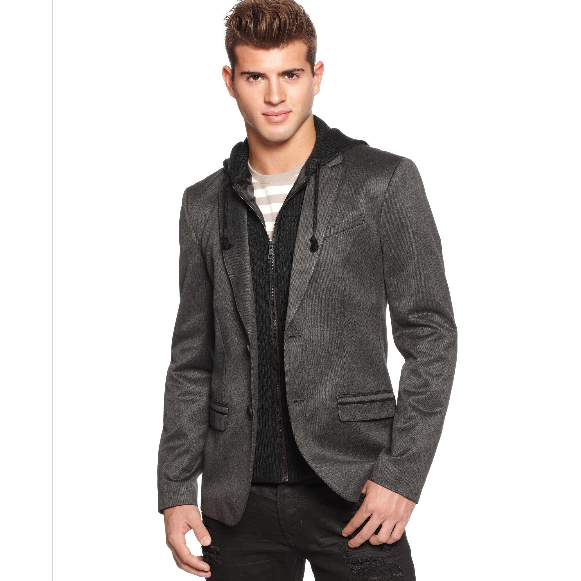abbigliamento sportivo ad alte prestazioni super popolare selezione migliore Guess Jacket Hooded Generator Blazer in Gray for Men - Lyst
