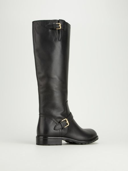 marc by marc leather calf length boots in black lyst