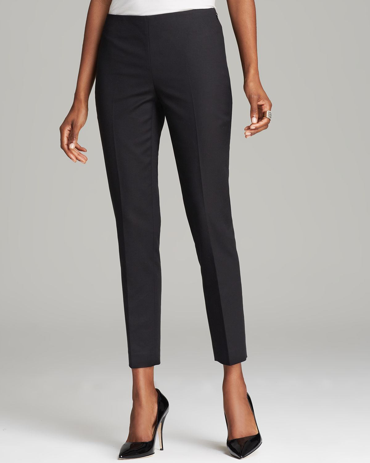 More Details Anatomie Thea Straight-Leg Ankle-Length Pants w/ Side Zip Pockets Details Anatomie