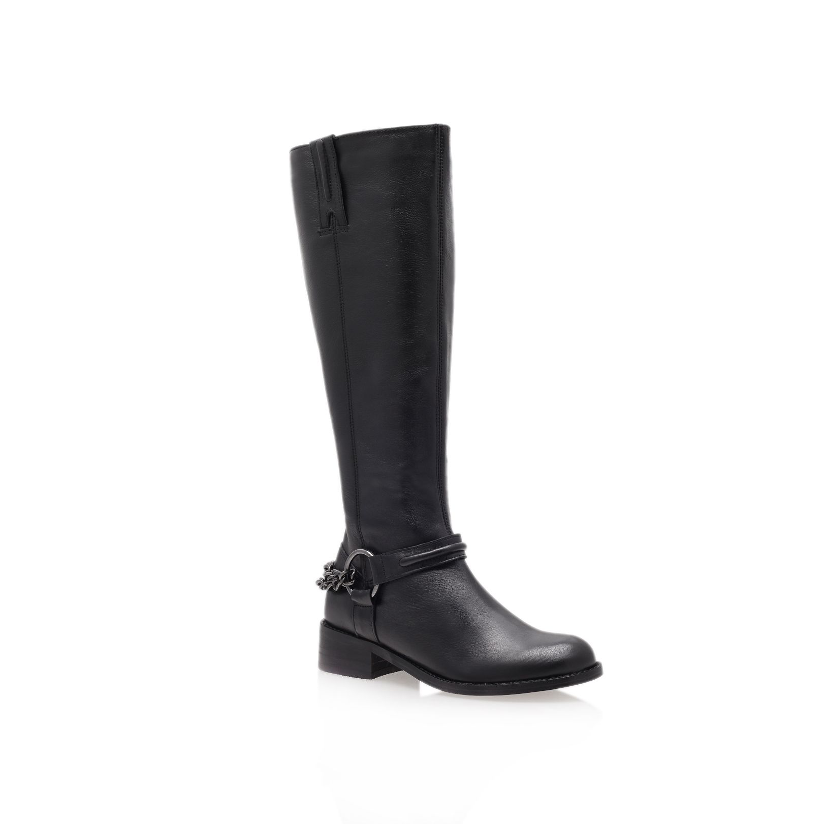 Carvela Kurt Geiger Paula Low Heel Knee Boots In Black | Lyst