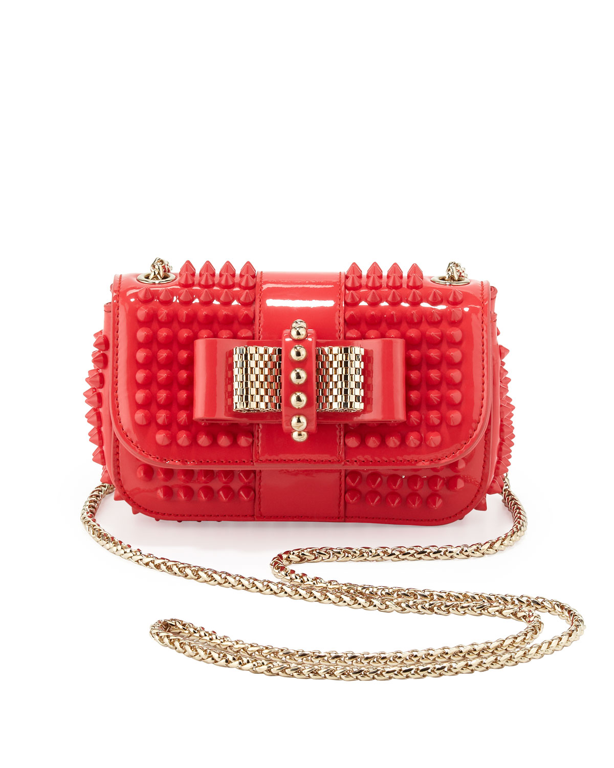 a63dcb216eb Christian Louboutin Pink Sweety Charity Spiked Crossbody Bag