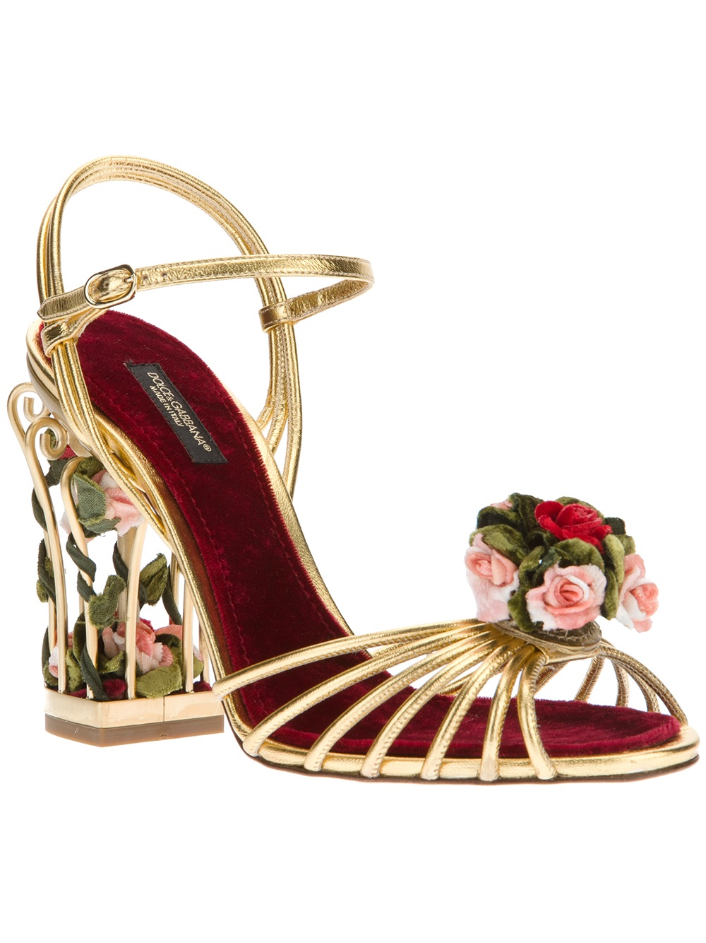 Dolce & Gabbana Floral Slingback Sandals sale low cost aXmmGAaVj