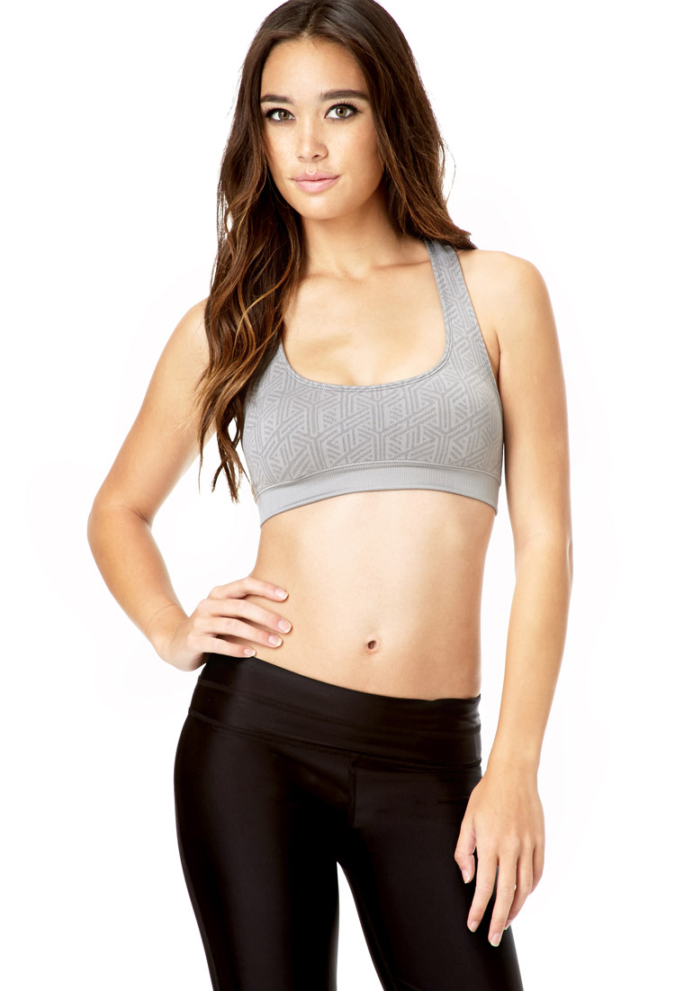 159d0fb8004d8 Lyst - Forever 21 Low Impact - Geo Pattern Sports Bra You ve Been ...
