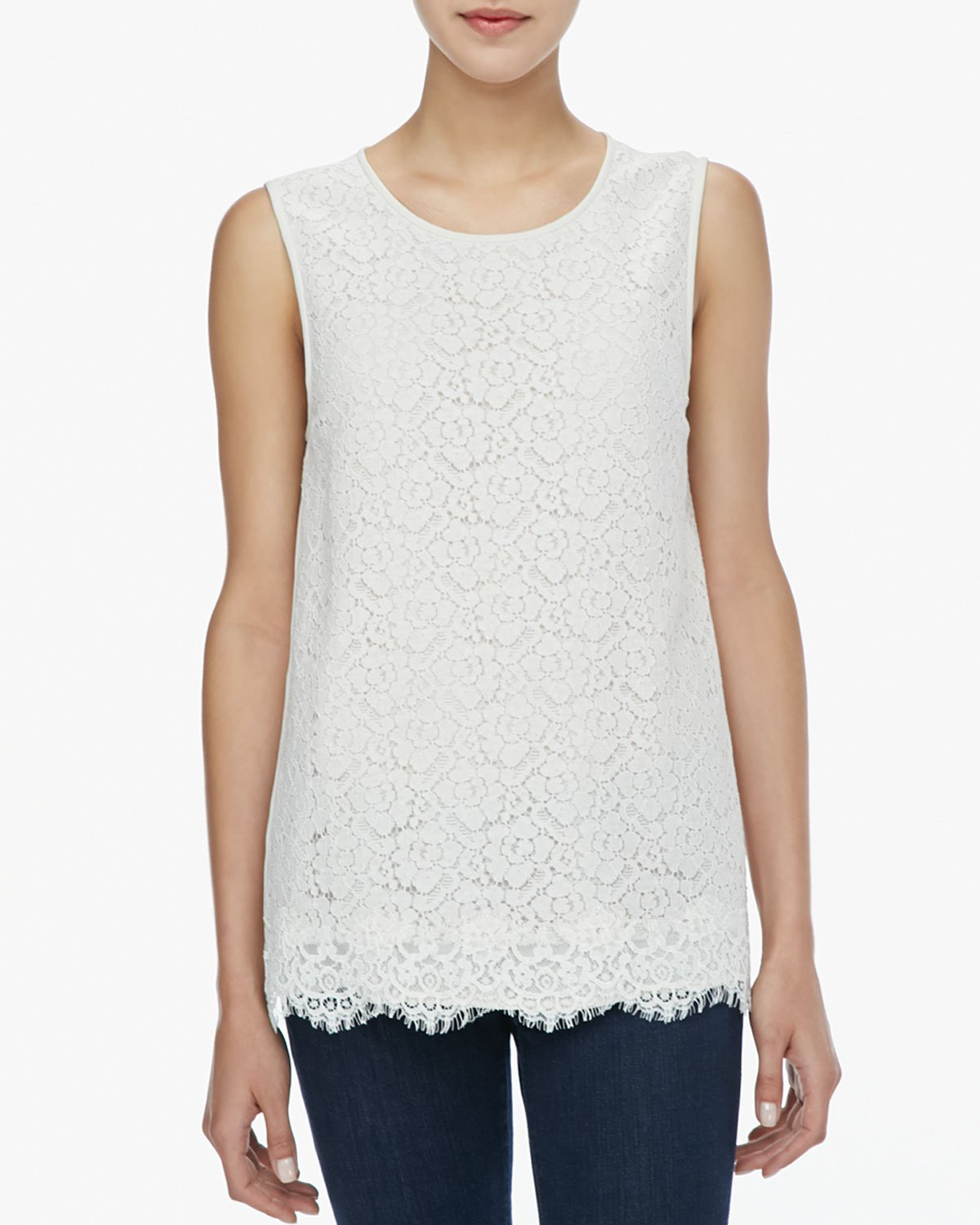 Lyst Joie Sorisa Sleeveless Lace Top In White