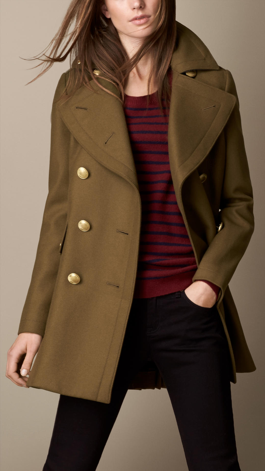 Burberry Oversize Felted Wool Coat in Natural | Lyst