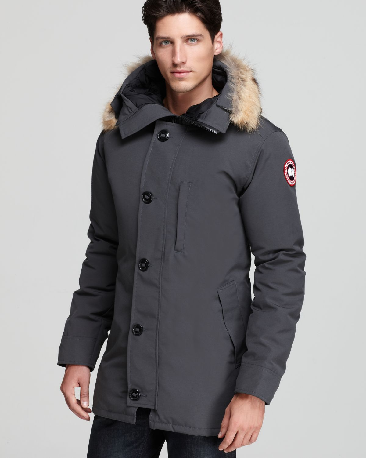 724f470b10b Canada Goose Gray Chateau Parka with Fur Hood for men