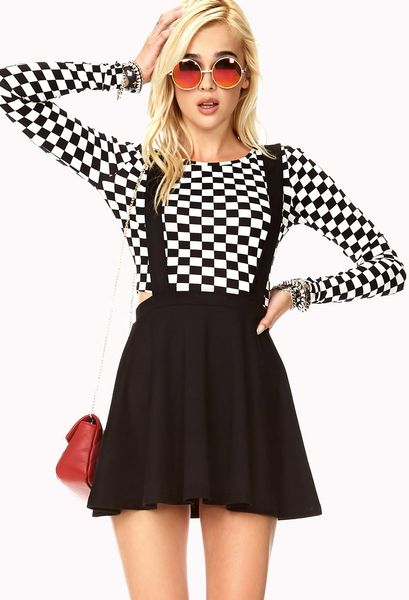 Forever 21 Street Chic Overall Dress In Black Lyst