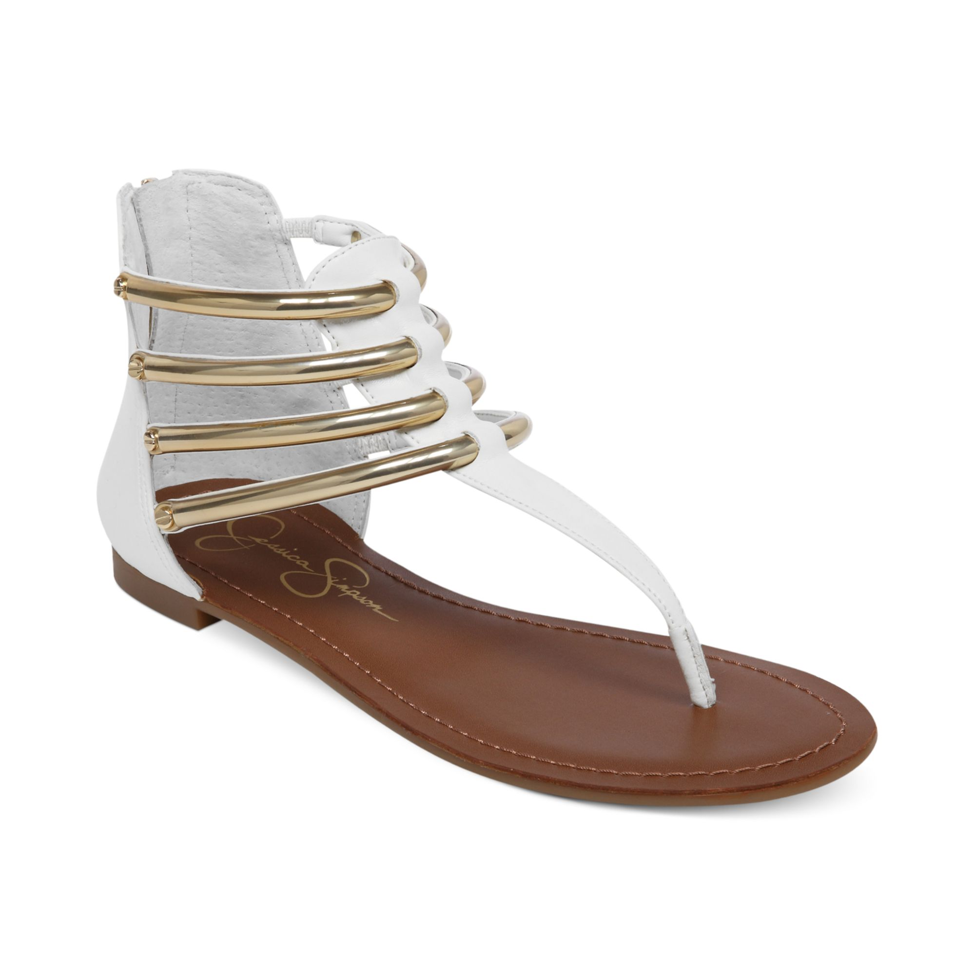 c2c238164f2a Lyst - Jessica Simpson Gionara Flat Thong Sandals in White