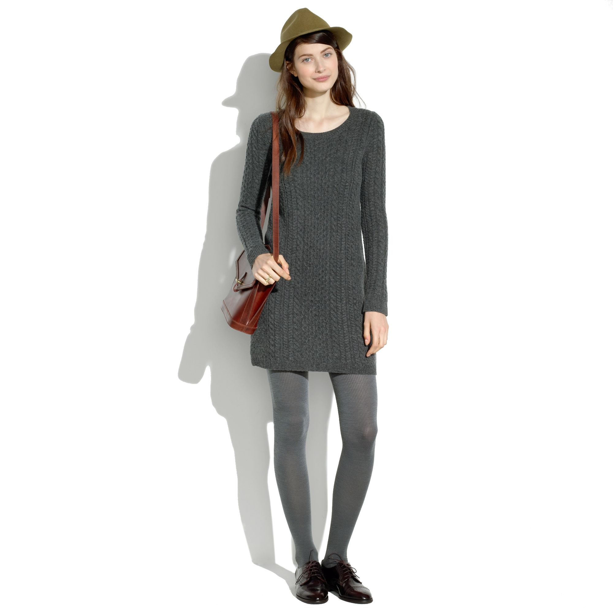 afb0076dc19 Lyst - Madewell Merino Sweaterdress in Gray