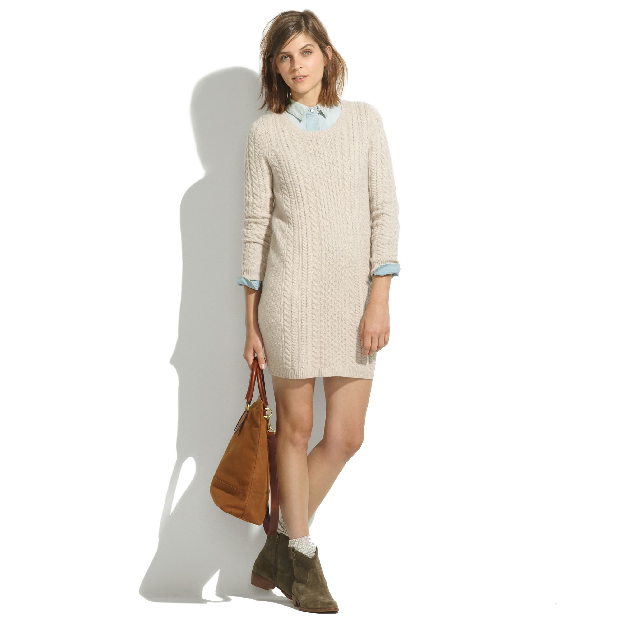 f2b1173bc8f Madewell Merino Sweaterdress in Natural - Lyst