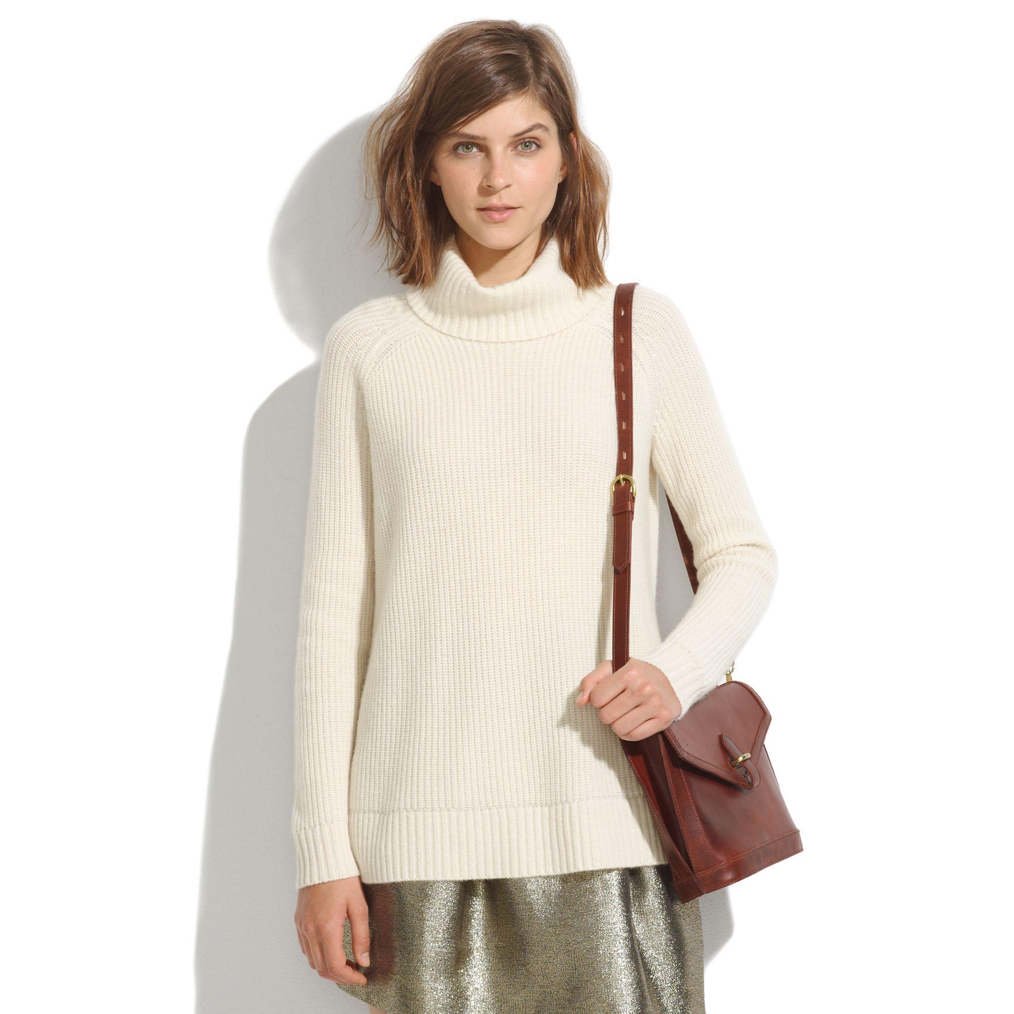 Ivory Turtleneck Sweater Coat Nj