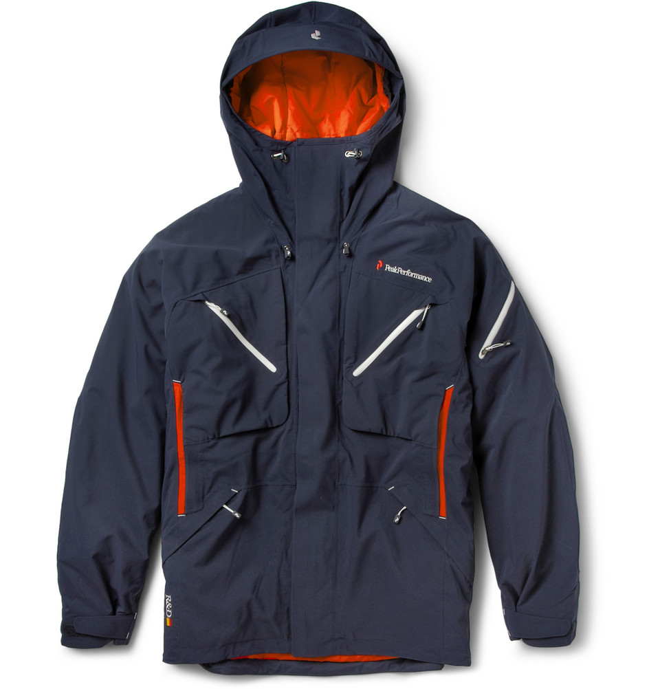 peak performance heli chilkat skiing jacket in blue for. Black Bedroom Furniture Sets. Home Design Ideas