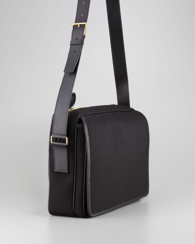 Lyst - Tom Ford Canvas Messenger Bag Black in Black for Men b768a23003e28