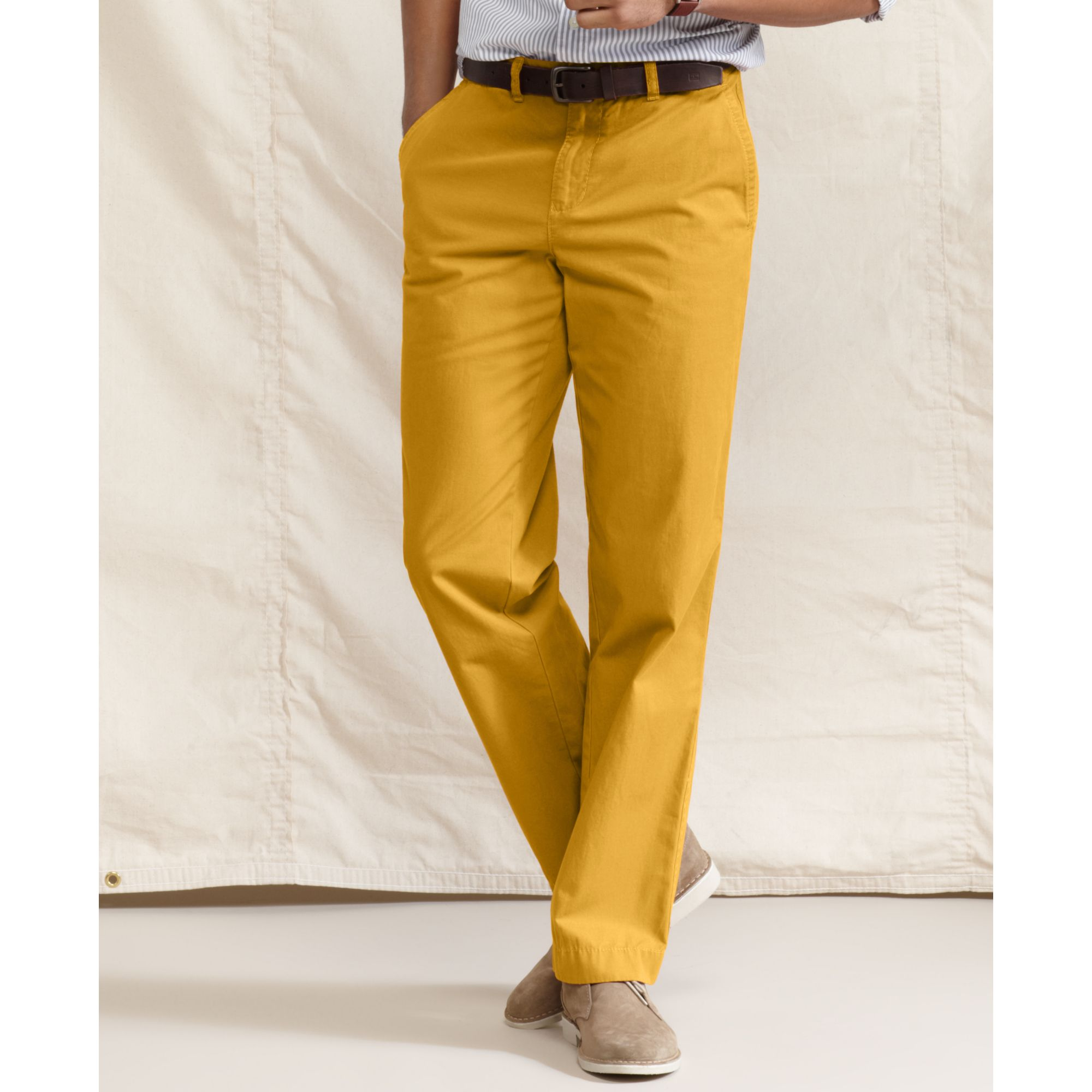 00ef93089 Tommy Hilfiger Graduate Slim Fit Chino Pants in Yellow for Men - Lyst