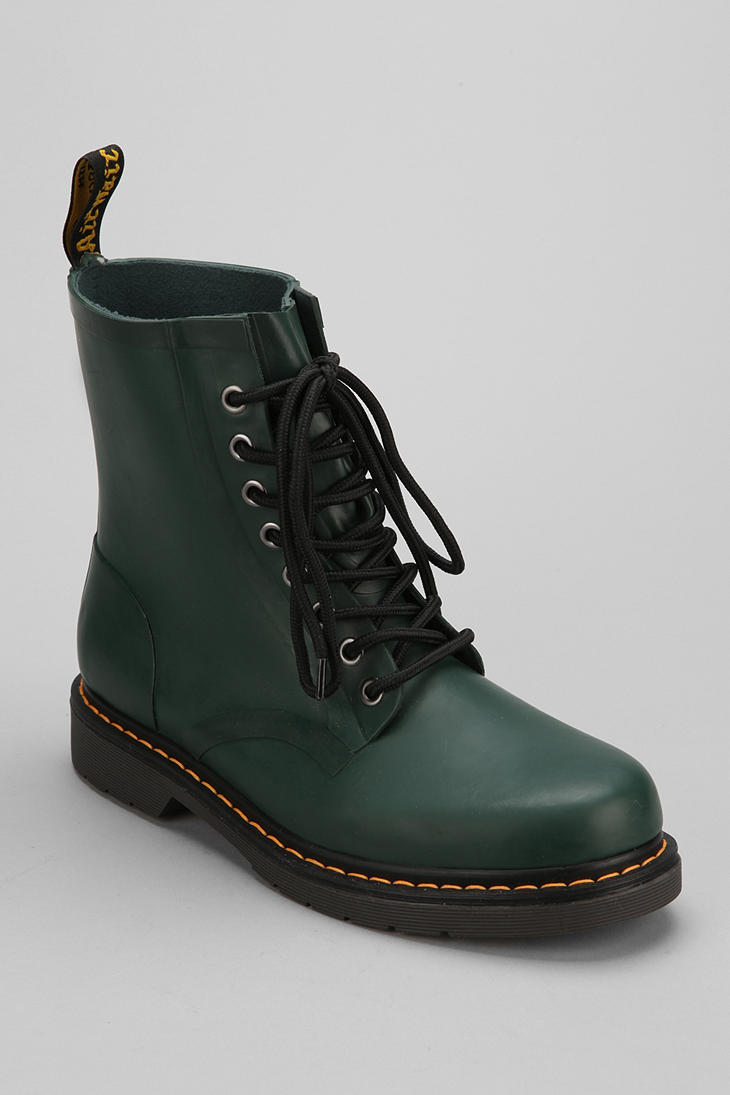 Urban Outfitters Dr Martens Drench Rubber Boot In Green Lyst