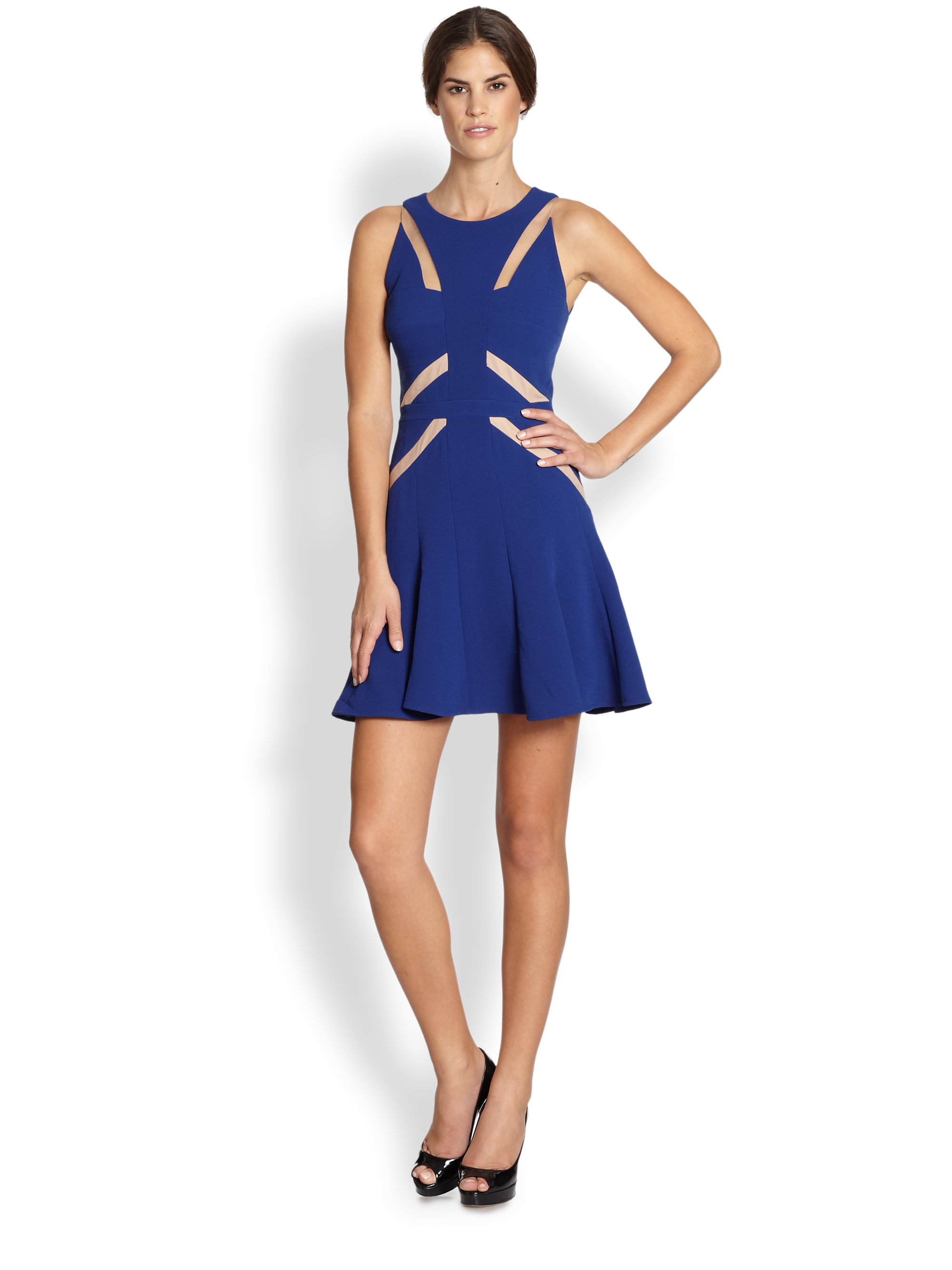 Blue Cocktail Dress Bcbg 121