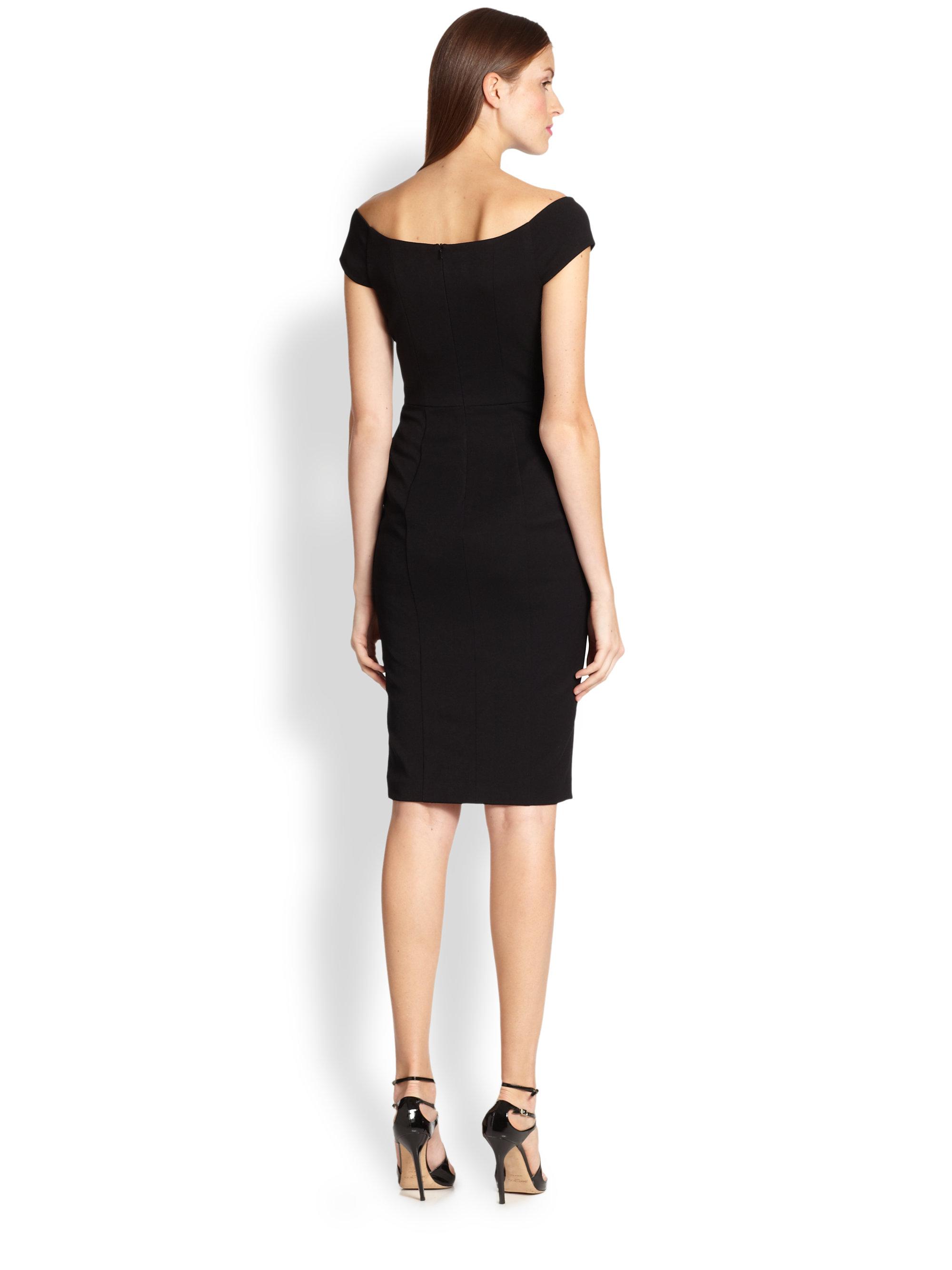 lyst black halo riya sheath dress in black