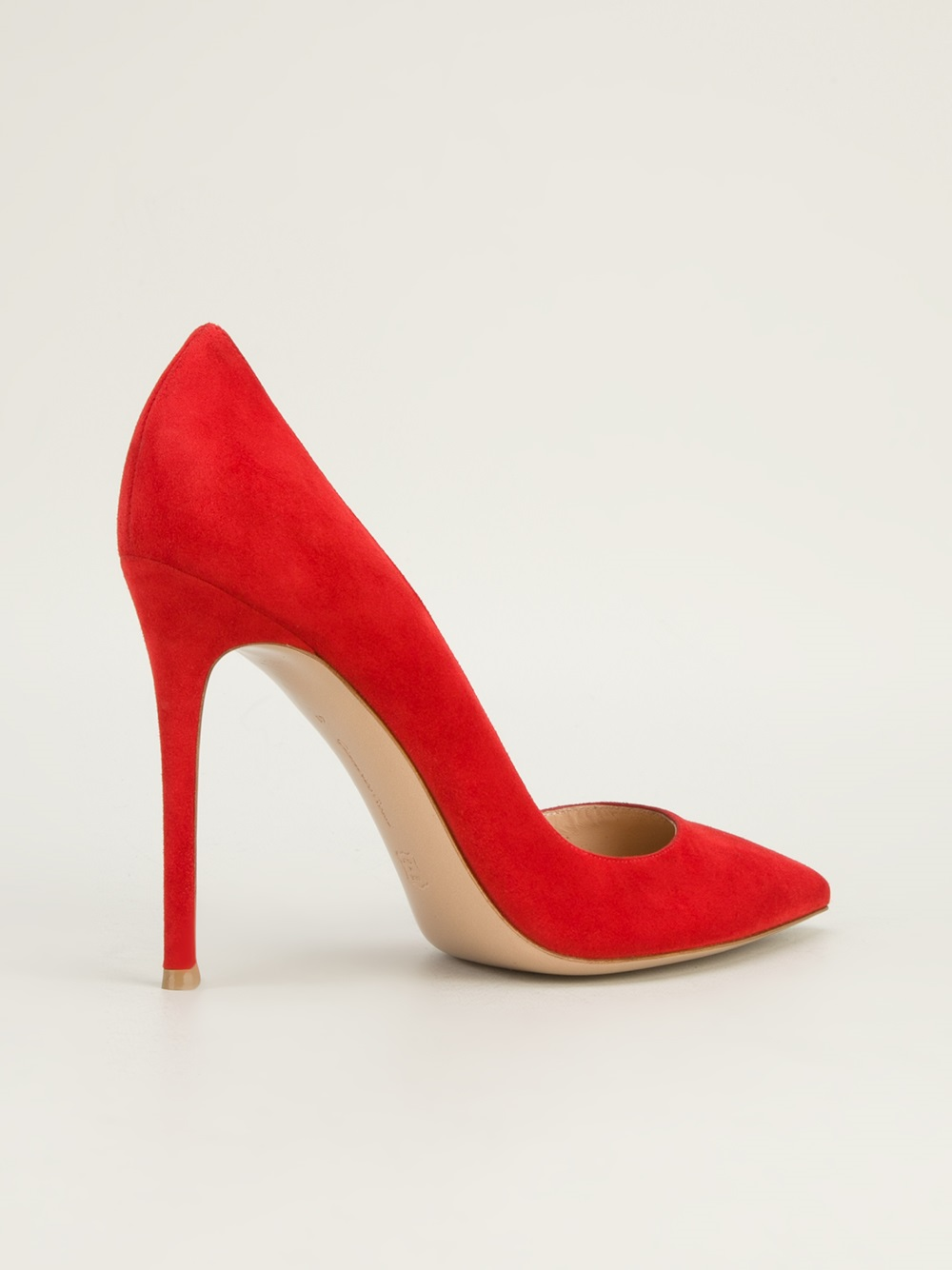 Lyst Gianvito Rossi Pointed Toe Pump In Red