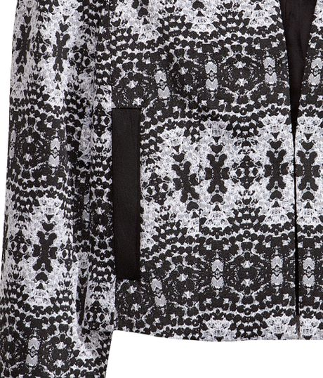 jacquard weave jacket h&m