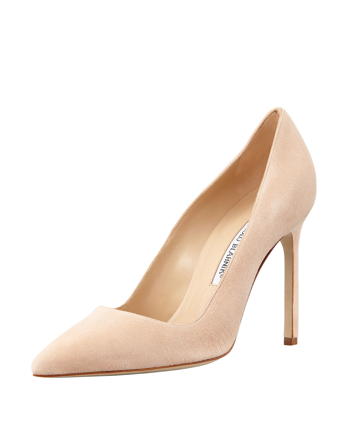 Manolo Blahnik Bb Suede 115Mm Pump In Beige Nude  Lyst-8119