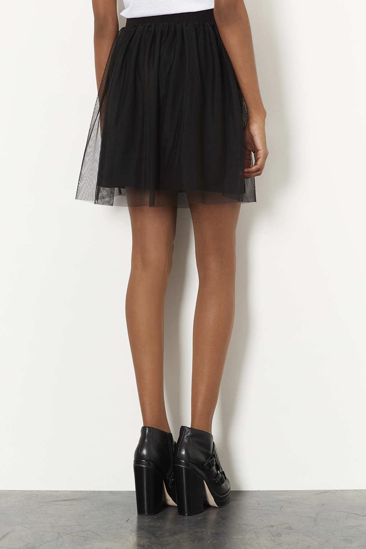 c2bbb37ae2 TOPSHOP Black Tulle Mini Skirt in Black - Lyst