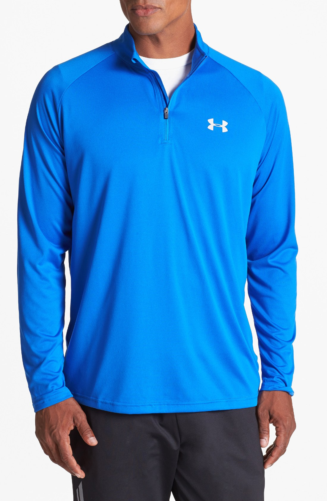 Under Armour Tech Quarter Zip Pullover In Blue For Men