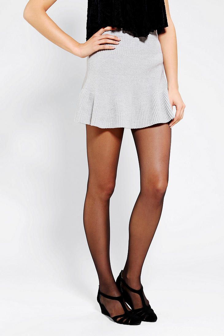 Urban outfitters Pins and Needles Ribbed Sweater Skirt in Gray | Lyst