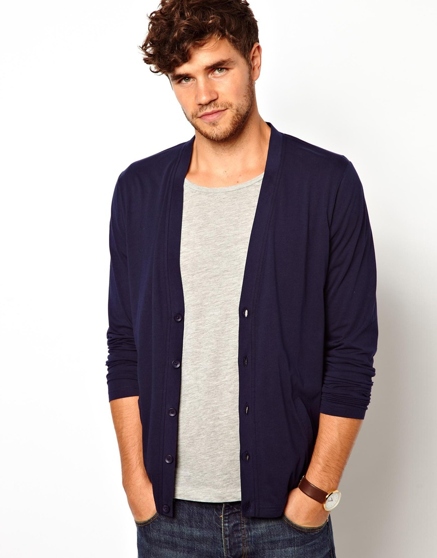 Blue Cardigan Mens