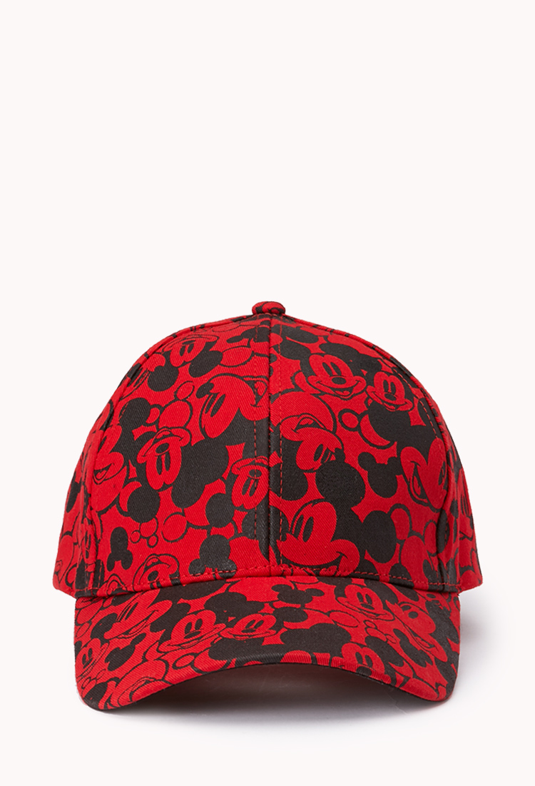 Lyst - Forever 21 Mickey Parade Baseball Cap in Red f341df3dd349