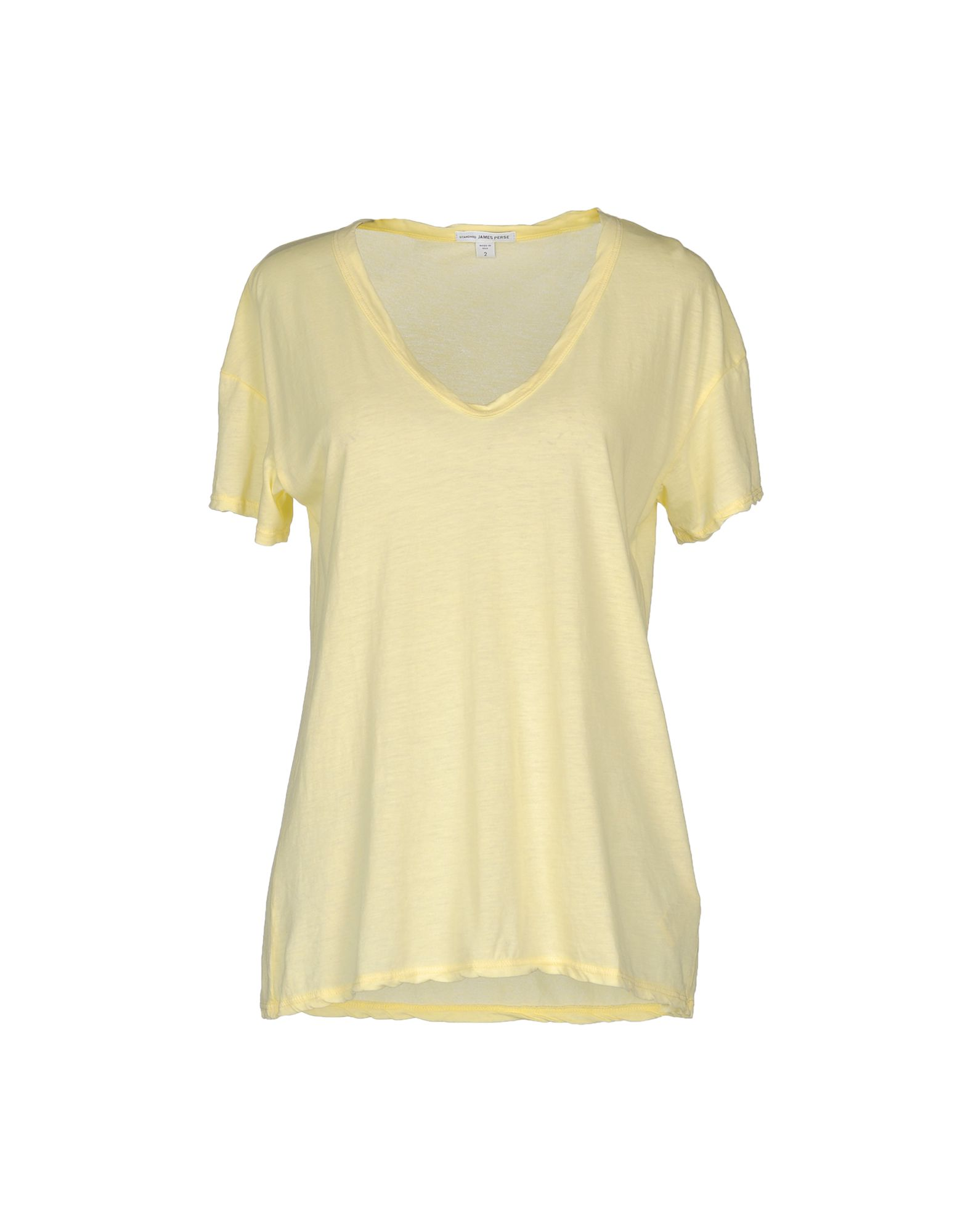 james perse short sleeve t shirt in yellow lyst