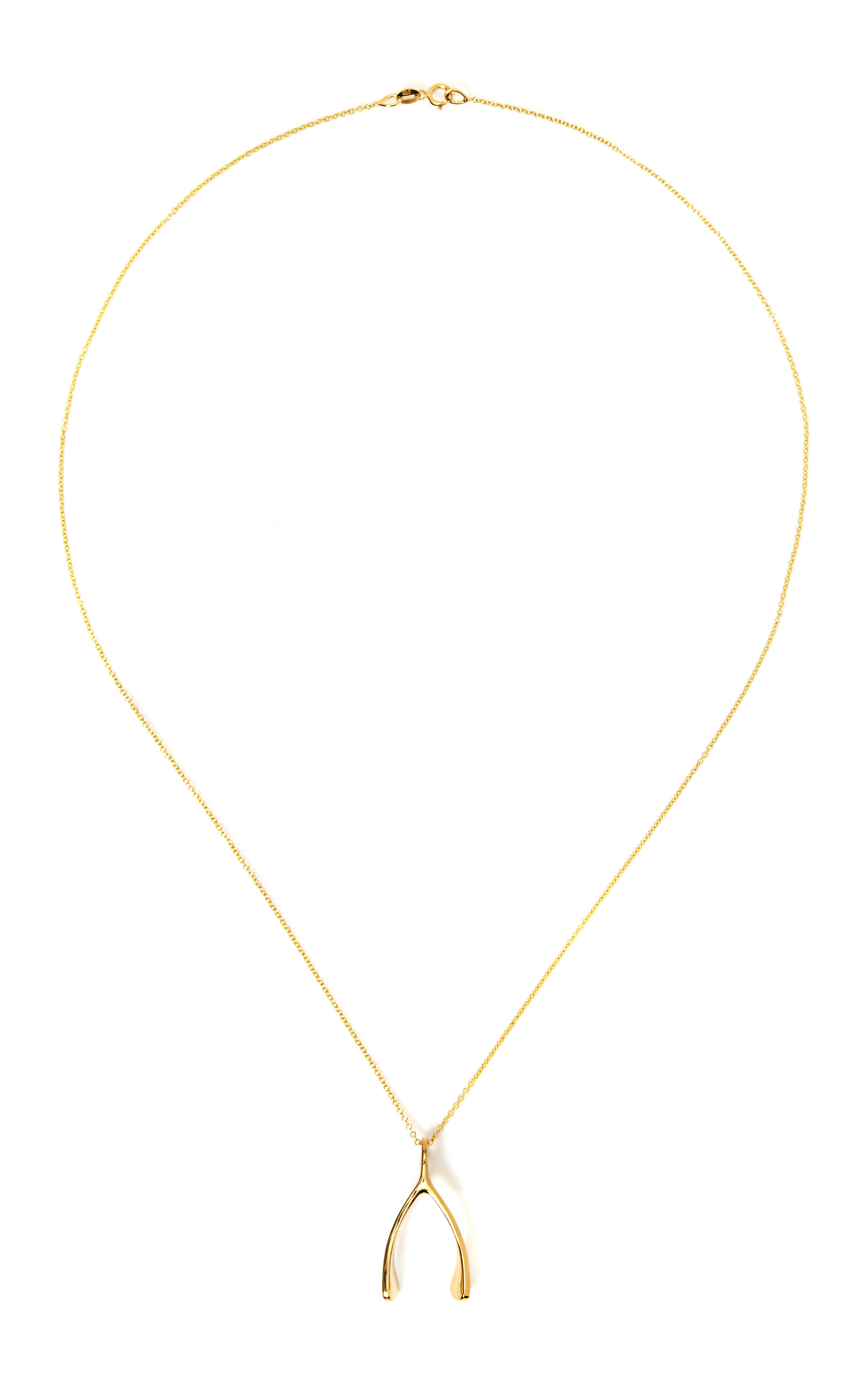 Lyst jennifer meyer 18k yellow gold wishbone necklace in metallic gallery aloadofball Image collections