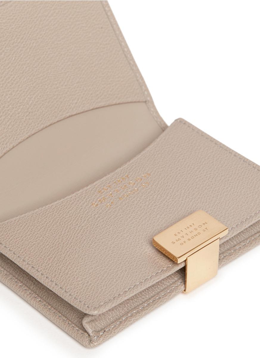 Lyst - Smythson Grosvenor Card Holder in Metallic for Men