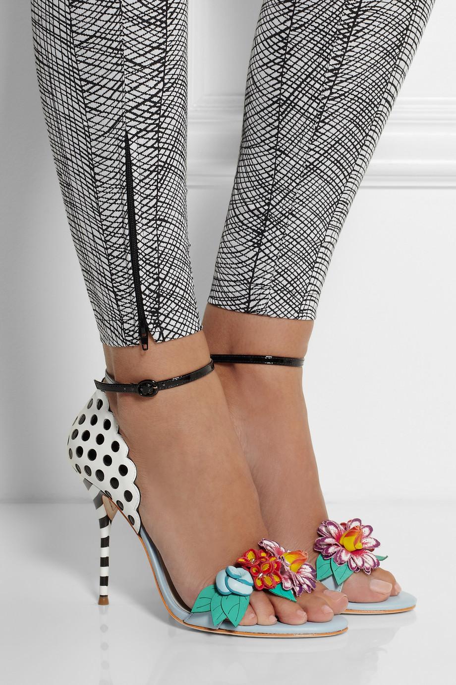 Lyst Sophia Webster Lilico Flowerembellished Leather