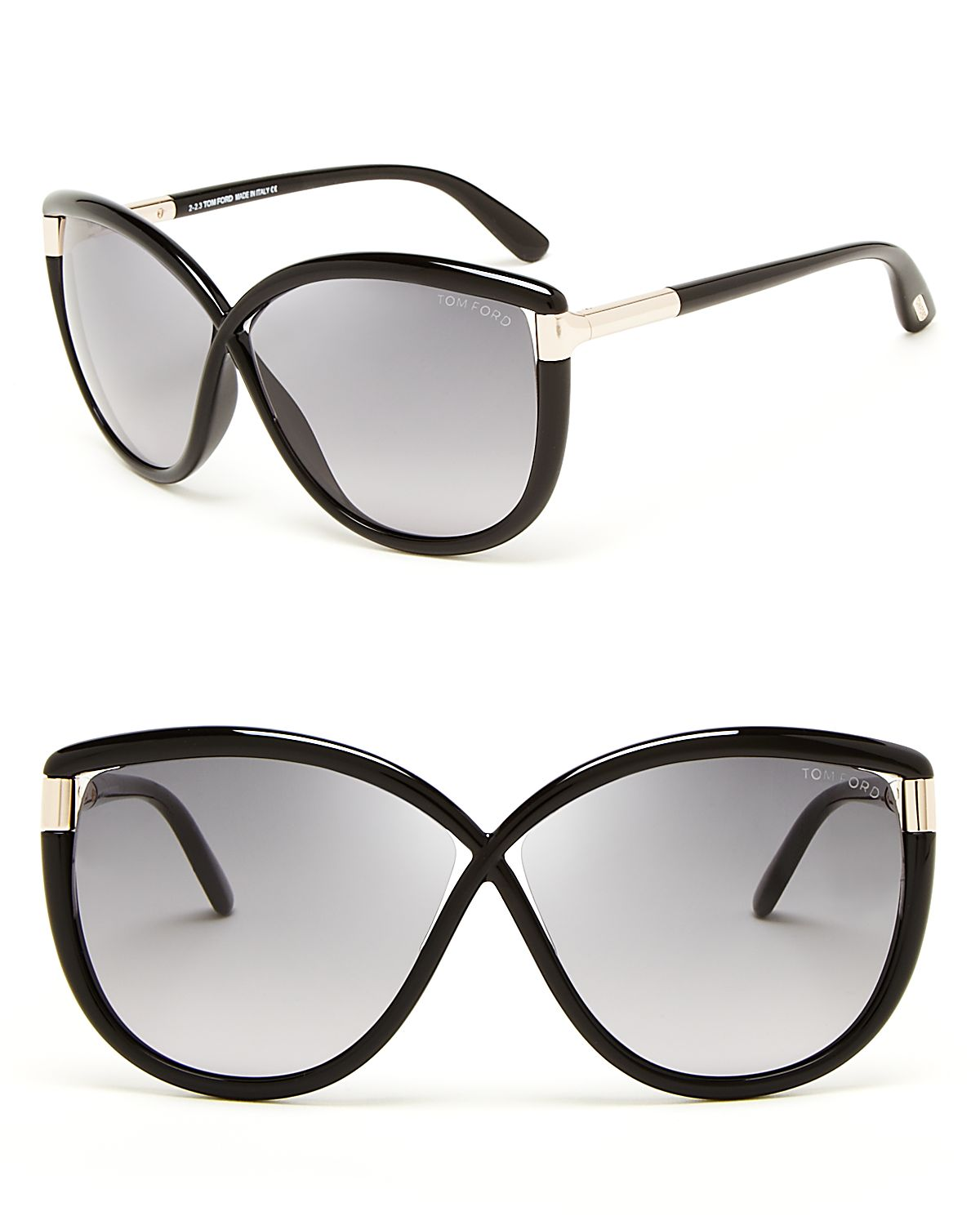 12523f1b72a Lyst - Tom Ford Abbey Oversized Sunglasses in Black