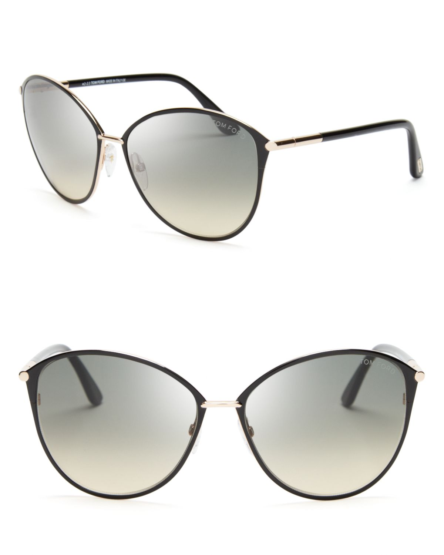 tom ford penelope oversized sunglasses in gray lyst. Black Bedroom Furniture Sets. Home Design Ideas