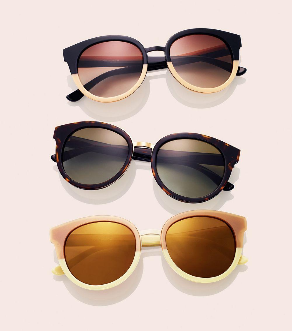 4cb8c04327e3 Lyst - Tory Burch Panama Sunglasses in Brown