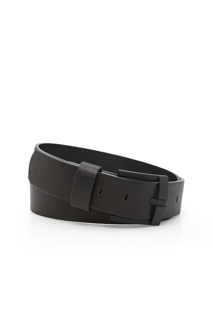 Lyst Forever 21 Matte Buckle Belt In Black For Men