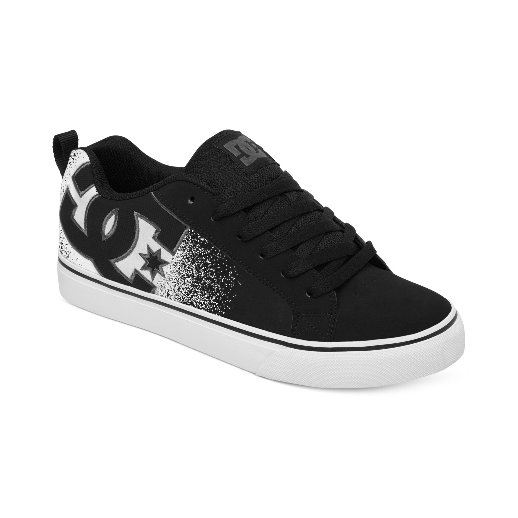 Lyst Dc Shoes Court Vulc Se Sneakers In Black For Men