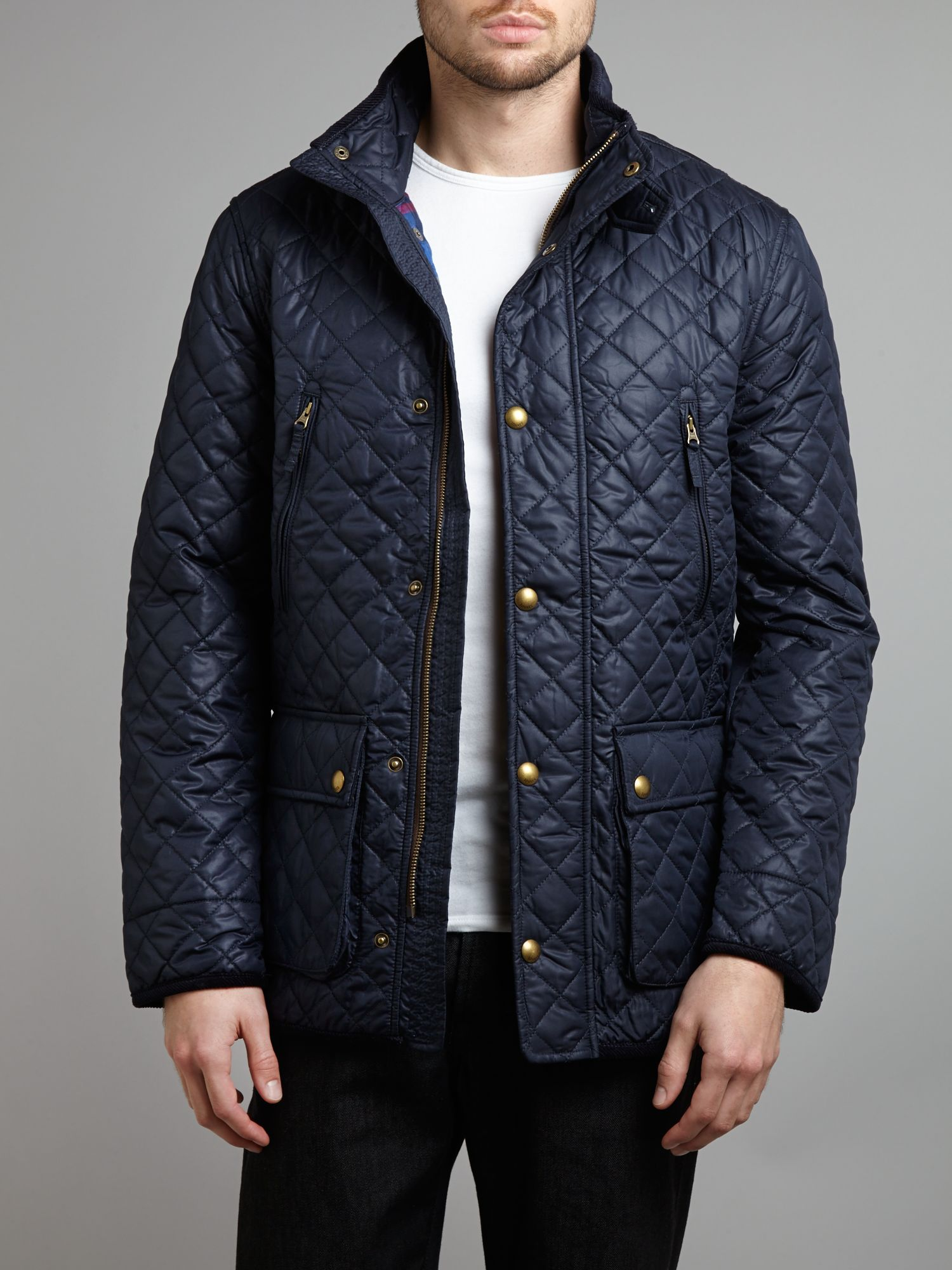 Joules Marcotte Quilted Jacket Navy Quilting