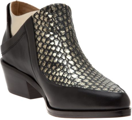 L.a.m.b. Leah Beetle Bootie in Black