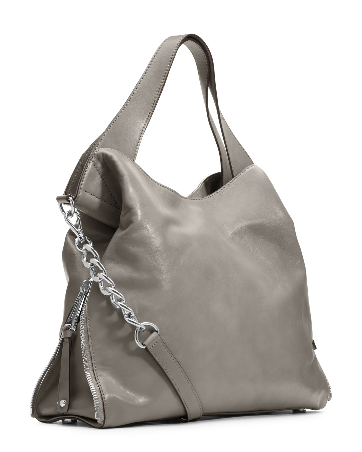 9d278c70271f ... france lyst michael michael kors large devon shoulder tote in gray  604e6 4ba45