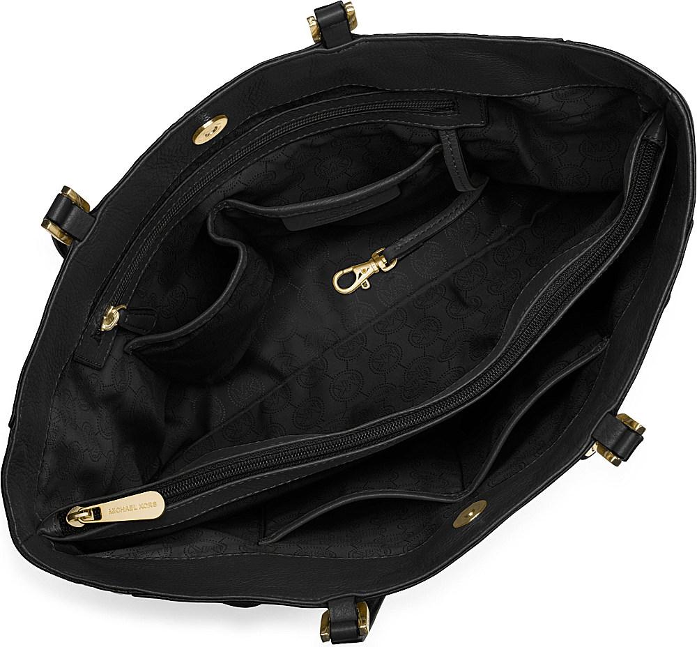 Michael Kors Harper Chain Saffiano Tote in Black