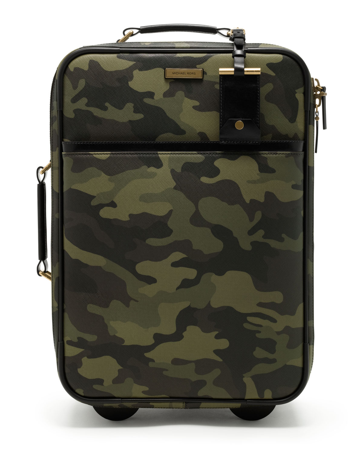 Michael Kors Jet Set Trolley Suitcase In Camo Green For