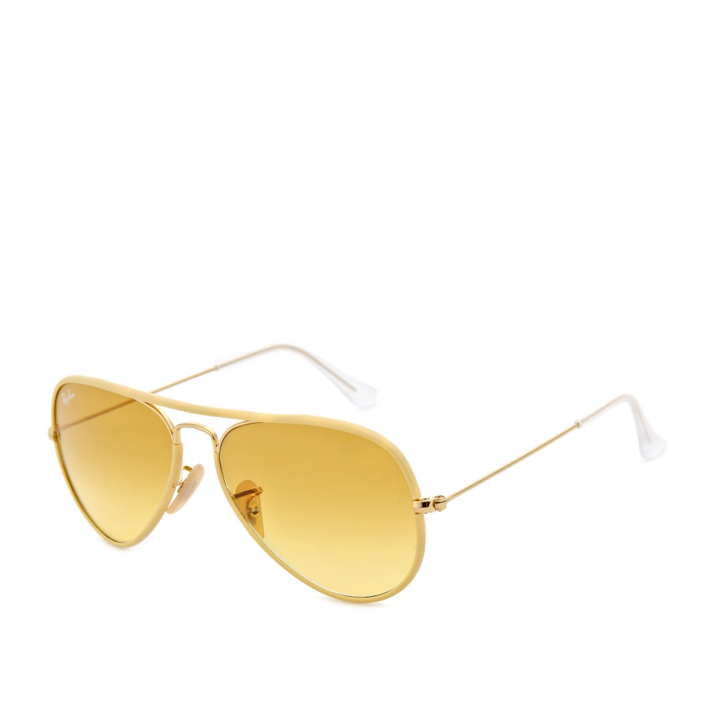 ray ban aviator large metal sunglasses in gold gold frame. Black Bedroom Furniture Sets. Home Design Ideas