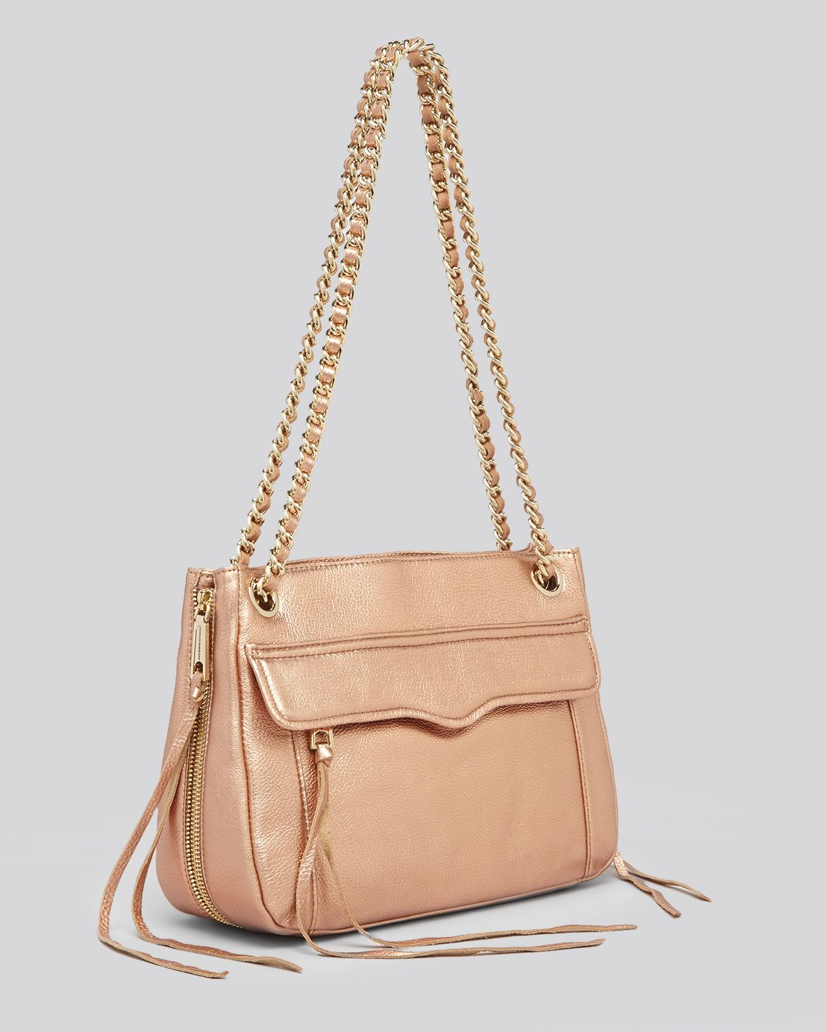 Rebecca minkoff Shoulder Bag Metallic Swing in Metallic | Lyst