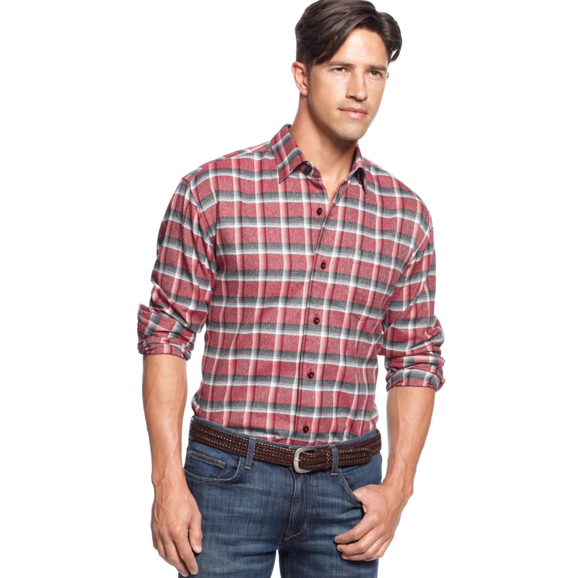 Lyst tommy bahama long sleeve somerset plaid shirt for men for Tommy bahama long sleeve dress shirts