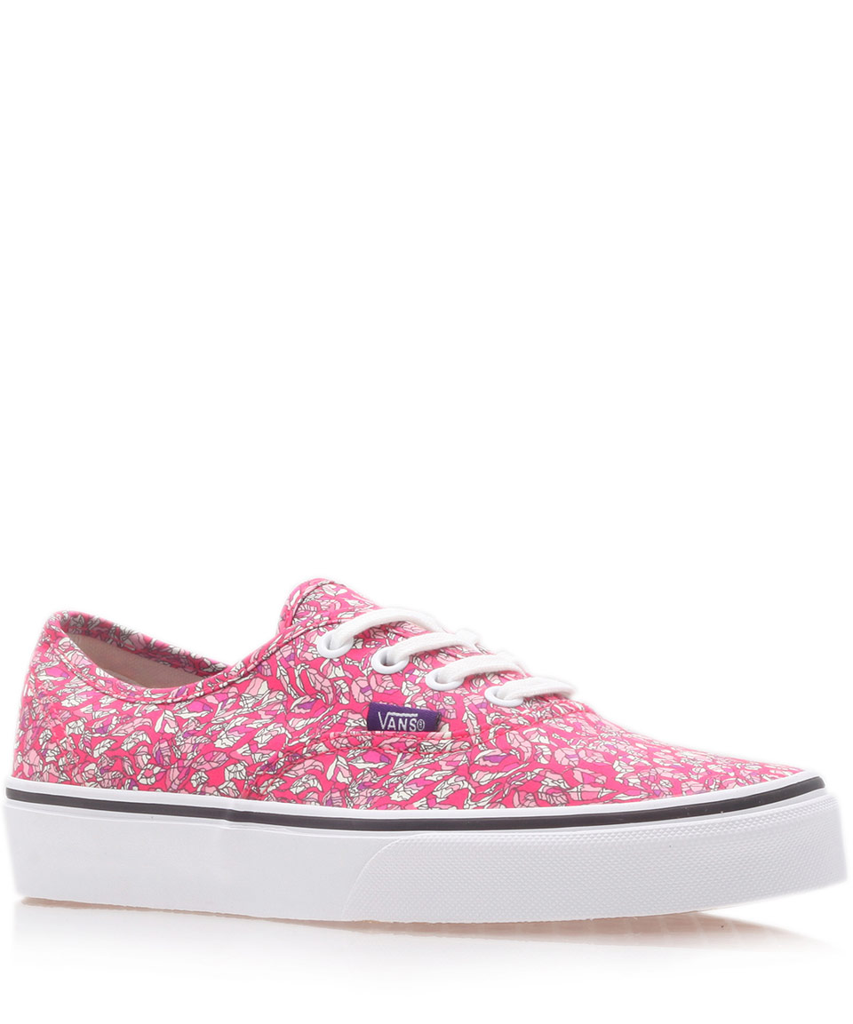4c13d1b976 Lyst - Vans Pink Leaves Liberty Print Authentic Trainers in Pink for Men