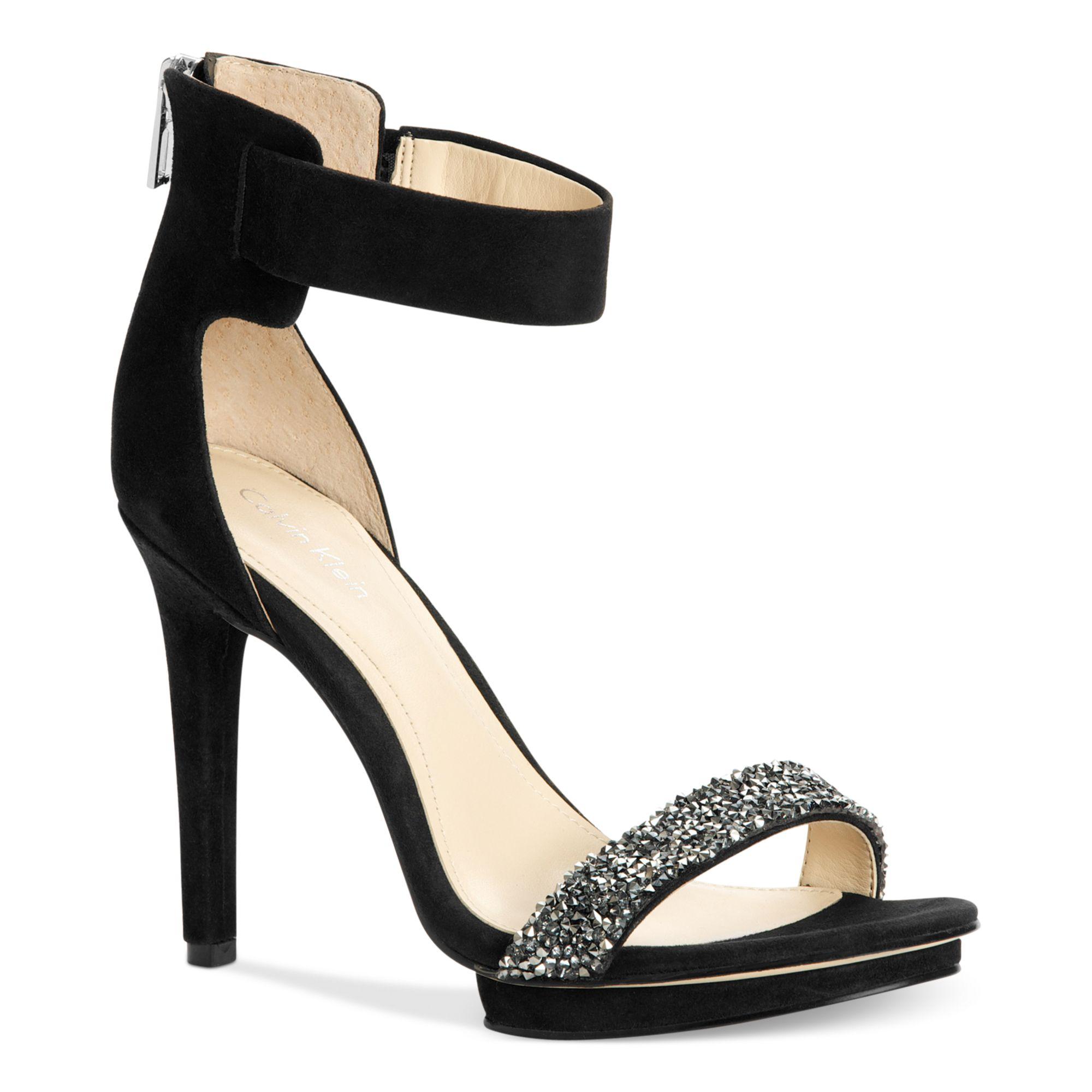 Lyst Calvin Klein Heels Sandal Heels In Black