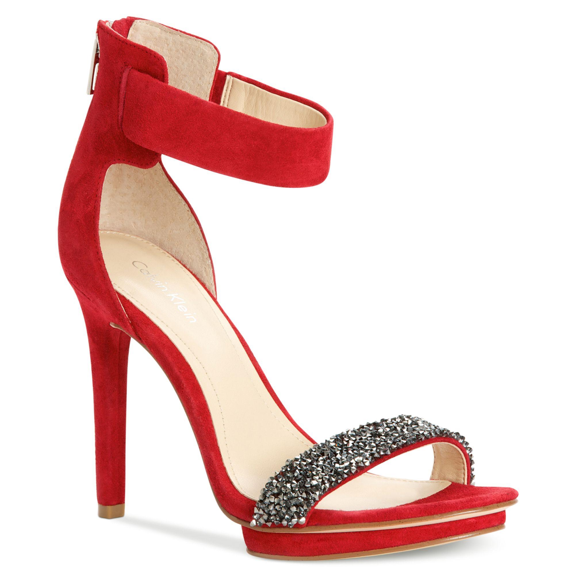 fee14e59544 Calvin Klein Red heels sandal heels